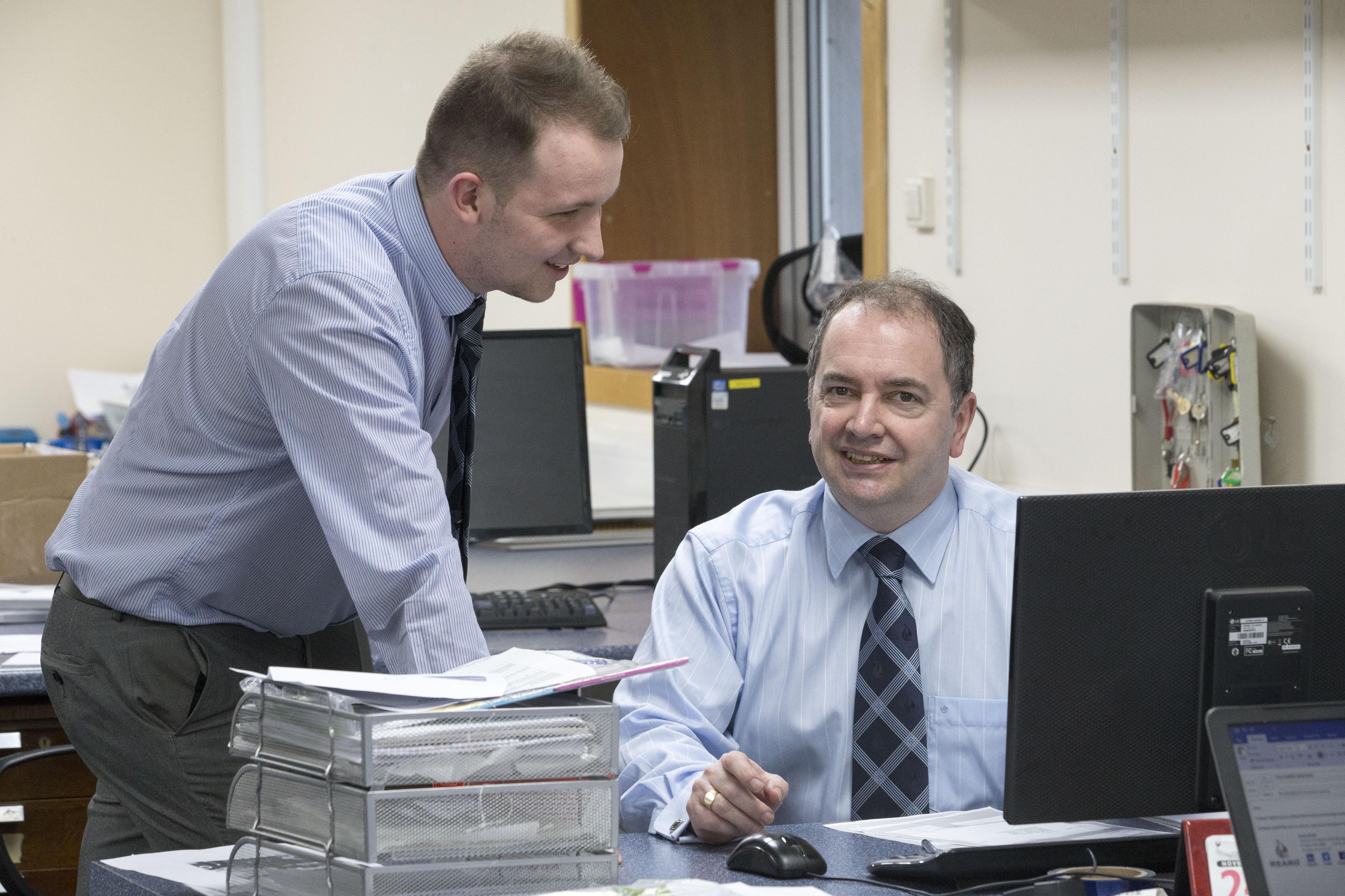 Liam Gray and Ian Wright
